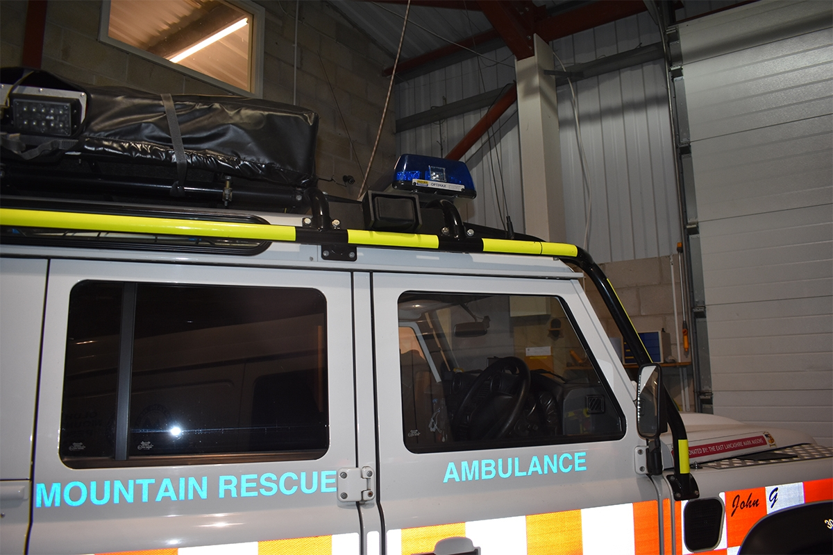 Oldham Mountain rescue truck with keysafe
