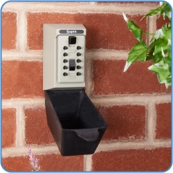 Permanent KeySafe installed on a wall