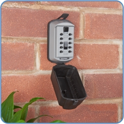 Slimline KeySafe installed on a wall