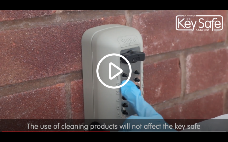 disinfecting a key safe video link