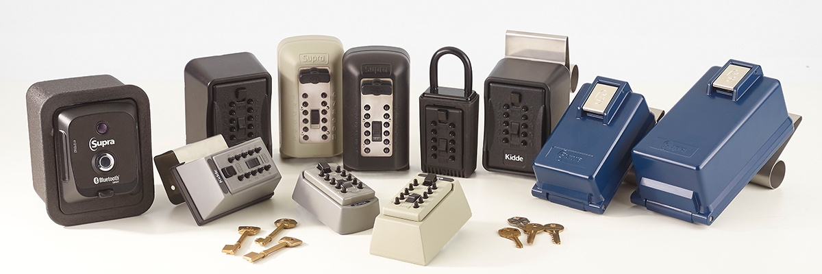 the keysafe product range shown together